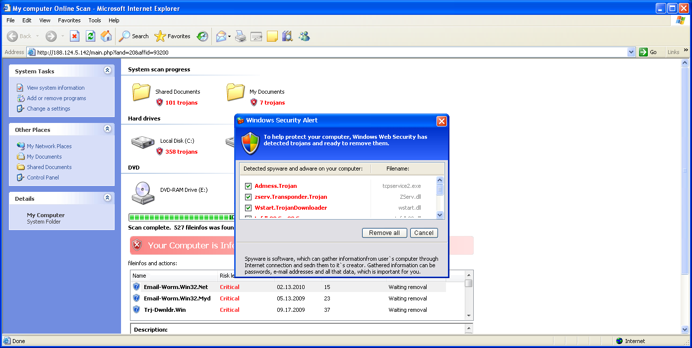 Securitytool Isnt A Security Tool Emsisoft Blog Dvd Anti Malware You Are Prompted To Download An Antivirus Antimalware Which Is Actually Rogue Application Will Display Fake Scan Results