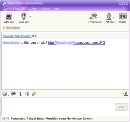 Fake Facebook worm spreading through Yahoo, IRC   Emsisoft