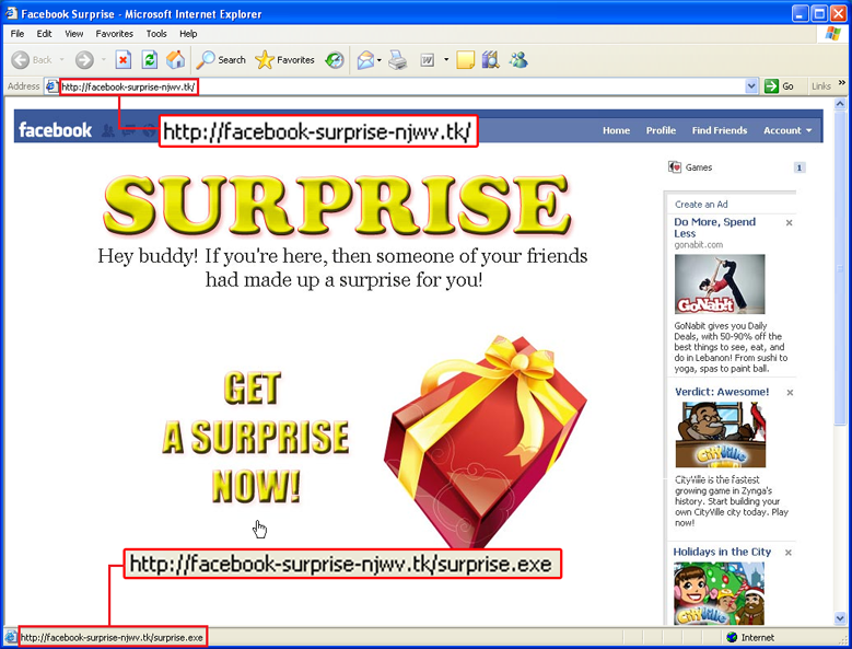 Warning: Surprise spam trojan on Facebook | Emsisoft