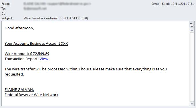 Trojan Spy - Scam Email #2
