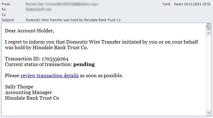 Trojan Spy - Scam Email #3