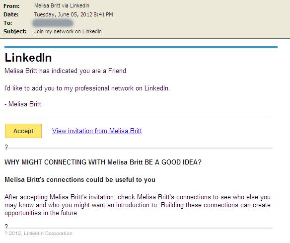 Spam email LinkedIn