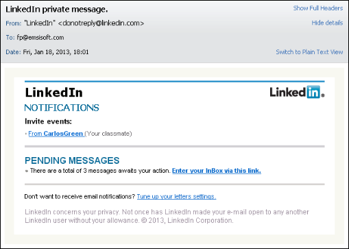 how to create a hyperlink in linkedin message