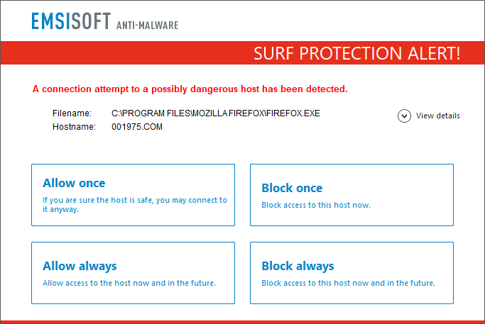 How to use Surf Protection to prevent malware entering your PC
