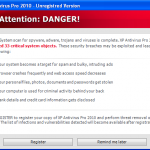 XP AntiSpyware 2010 Rogue Security Software