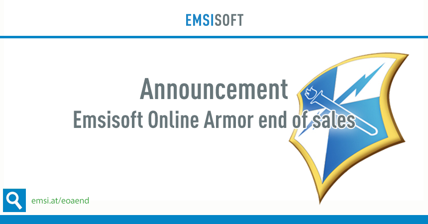 Emsisoft Online Armor was replaced by Emsisoft Internet Security