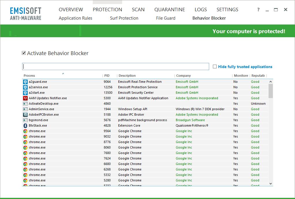 Emsisoft Anti-Malware - Behavior Blocker