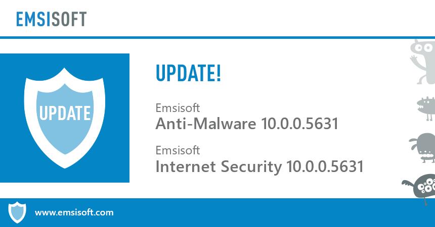 Релиз Emsisoft Anti-Malware и Emsisoft Internet Security 10.0.0.5631