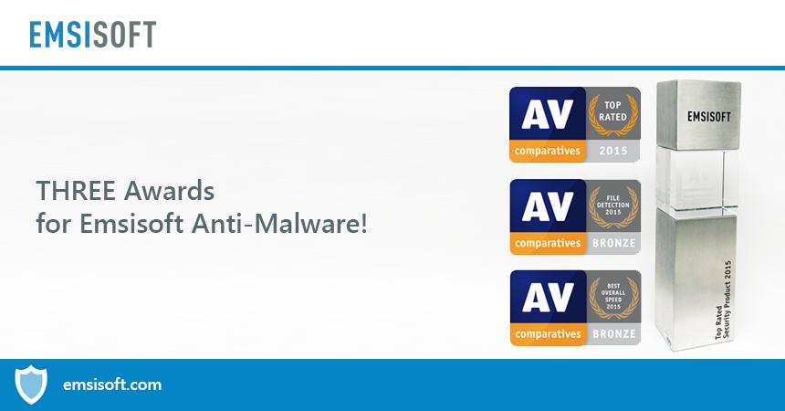 Быстро и в цель: Emsisoft снова попал в список лучших продуктов AV-Comparatives в 2015