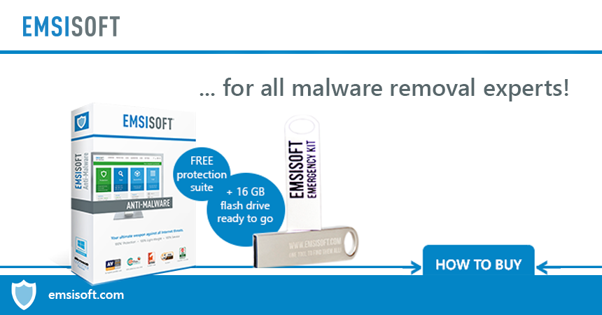 Basic equipment for all malware removal experts: Emsisoft Emergency Kit Pro