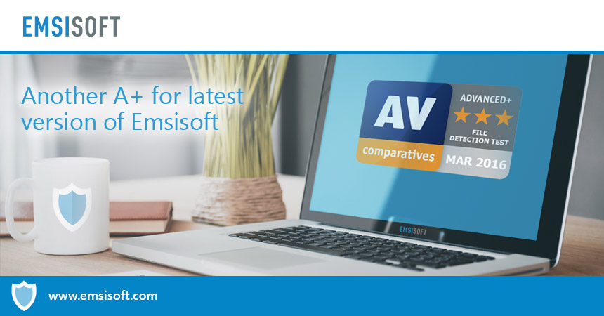 AV-Comparatives awards another A+ for latest version of Emsisoft