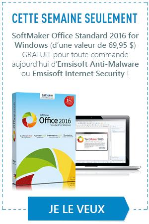 Recevez GRATUITEMENT deux outils d'une valeur 63 € avec votre commande d'Emsisoft Anti-Malware et d'Emsisoft Internet Security!