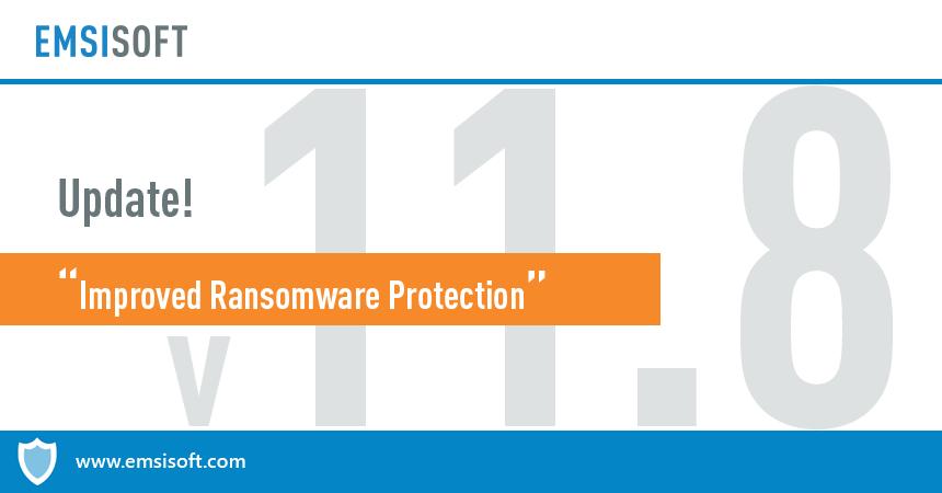 Emsisoft Anti-Malware & Emsisoft Internet Security 11.8 released