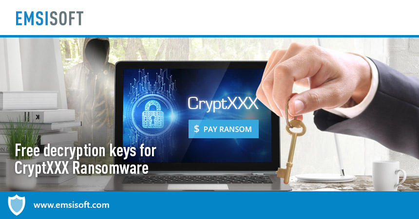 Free decryption keys for CryptXXX Ransomware