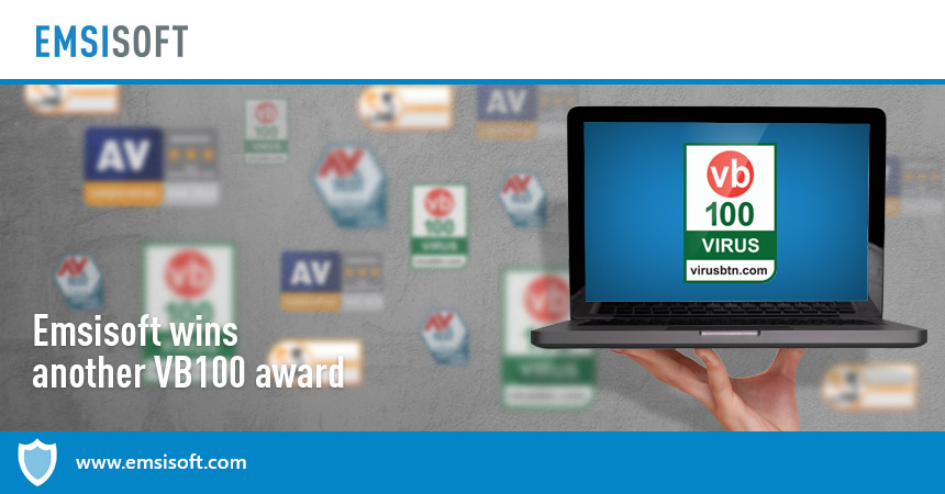 Emsisoft wins another VB100 award