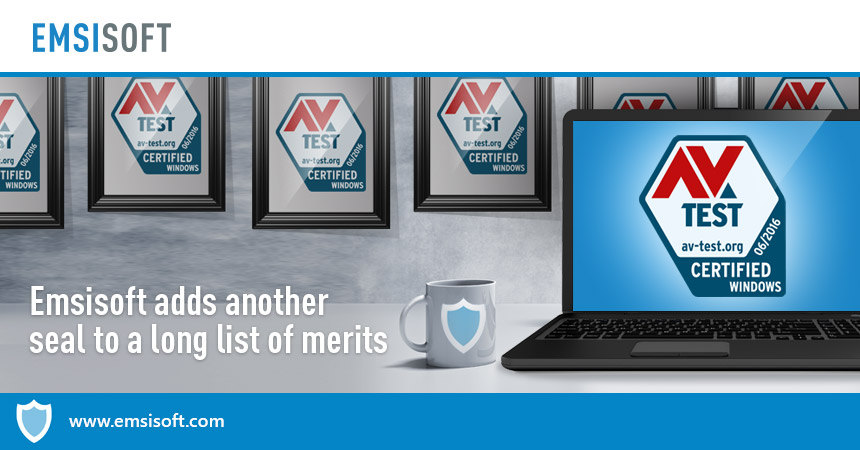 Emsisoft adds another seal to a long list of merits