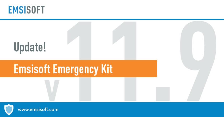Emsisoft Emergency Kit 11.9 released