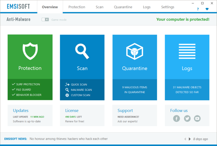 Emsisoft Anti-Malware 12 BETA