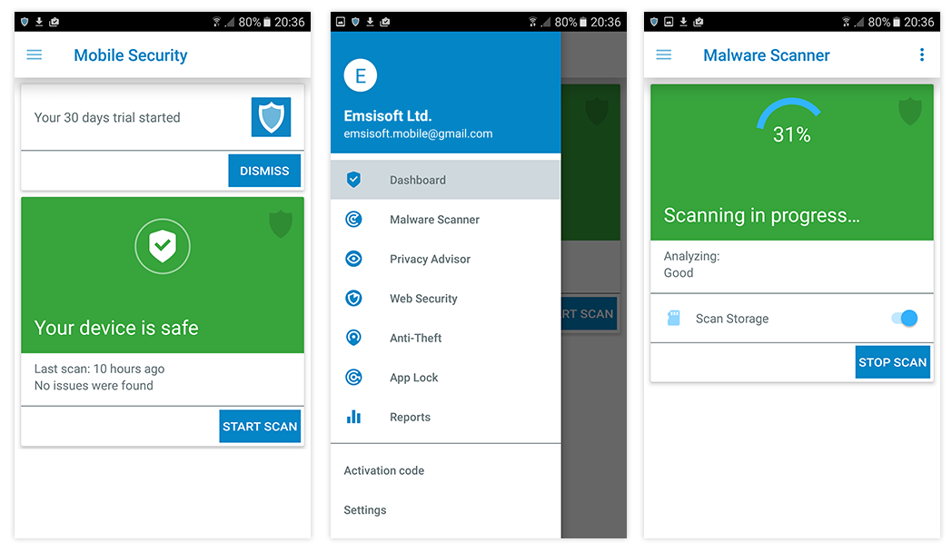 Emsisoft Mobile Security 3 0 - malware protection and more