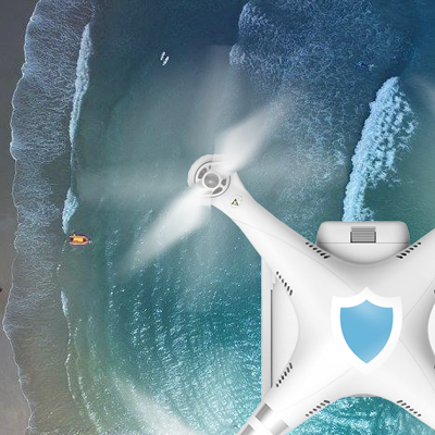 Behind the scenes: Surf protection drones in action