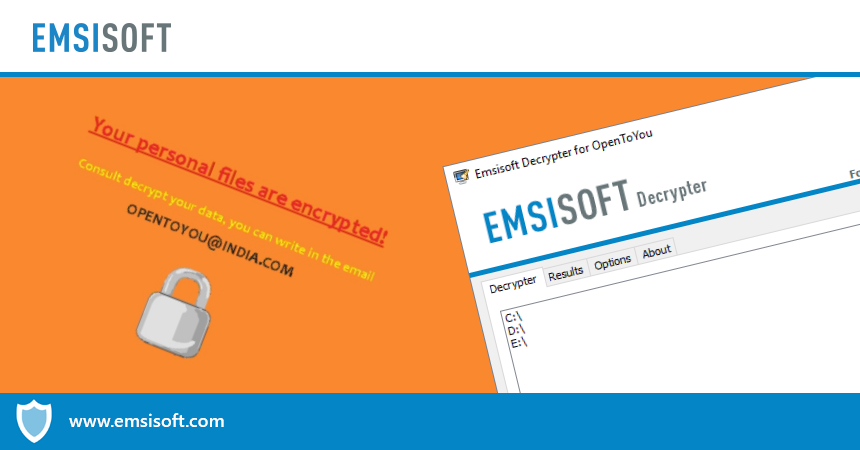 Emsisoft Releases Free Decrypter for OpenToYou Ransomware