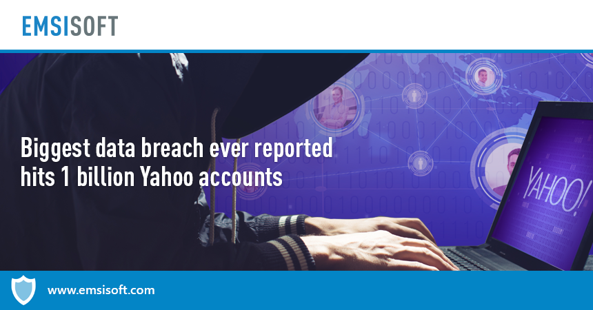 Biggest data breach ever reported hits 1 billion Yahoo accounts