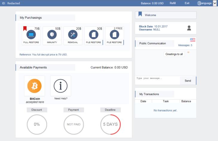 spora-ransomware-payment-website