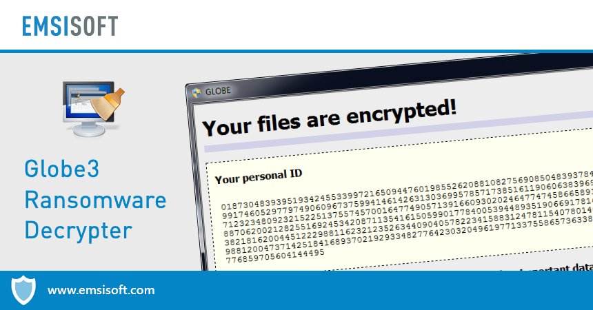 Emsisoft Releases Free Decrypter for Globe3 Ransomware