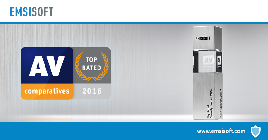 AV-Comparatives names Emsisoft Anti-Malware top-rated product of the year!