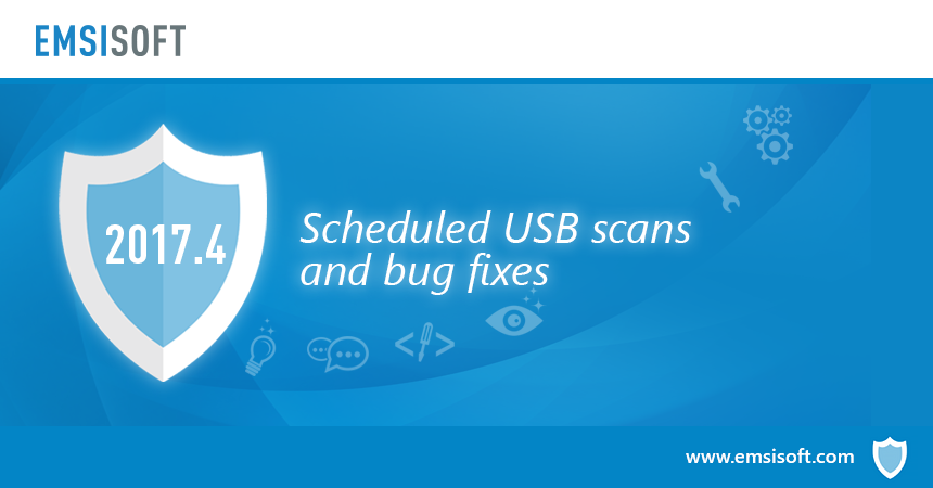 Новое в 2017.4: настройка запланированной проверки USB-носителей и исправление ошибок