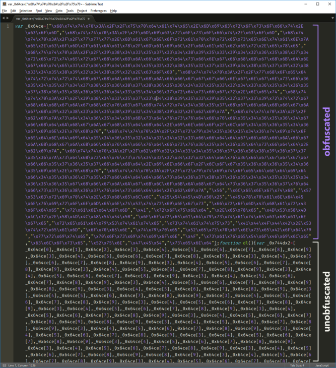 Сравнение: обфусцированный и необфусцированный исходный код