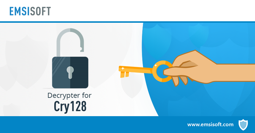 Remove Cry128 ransomware with Emsisoft's free decrypter