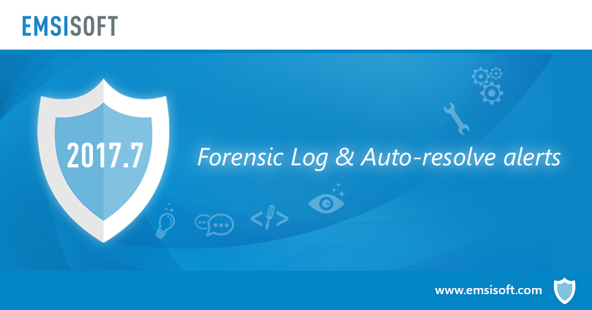 New in 2017.7: Forensic Log and Auto-resolve mode for Behavior Blocker alerts