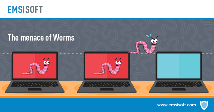 What is a computer worm and how does it spread?