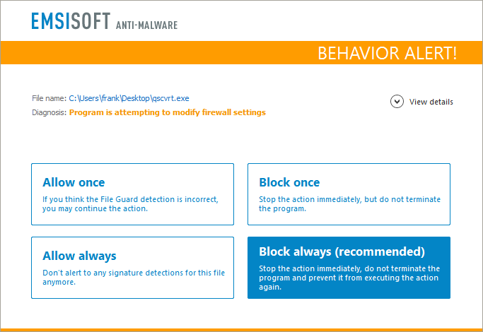 behavior-blocker-firewall-alert