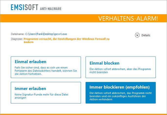 verhaltensanalyse-firewall-meldung