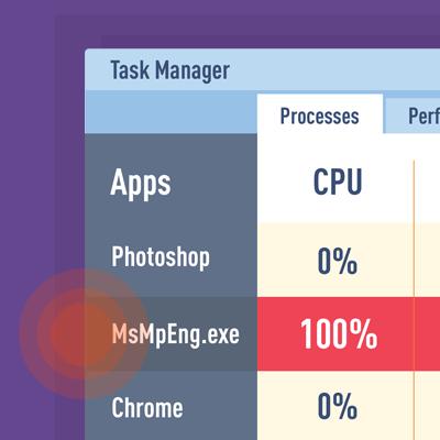 """CPU-Bremse """"Antimalware Service Executable"""" deaktivieren"""