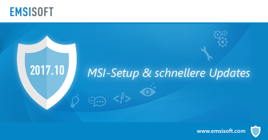 Neu in 2017.10: MSI-Setup, schnellere Updates und bessere Windows-Integration