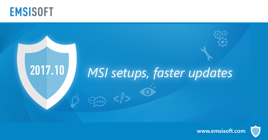 New in 2017.10: MSI setups, faster updates, improved Windows integration