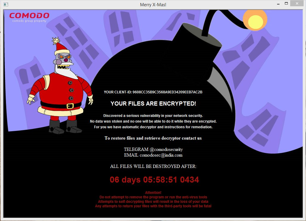 merrychristmas2-ransom-screen | Emsisoft | Security Blog
