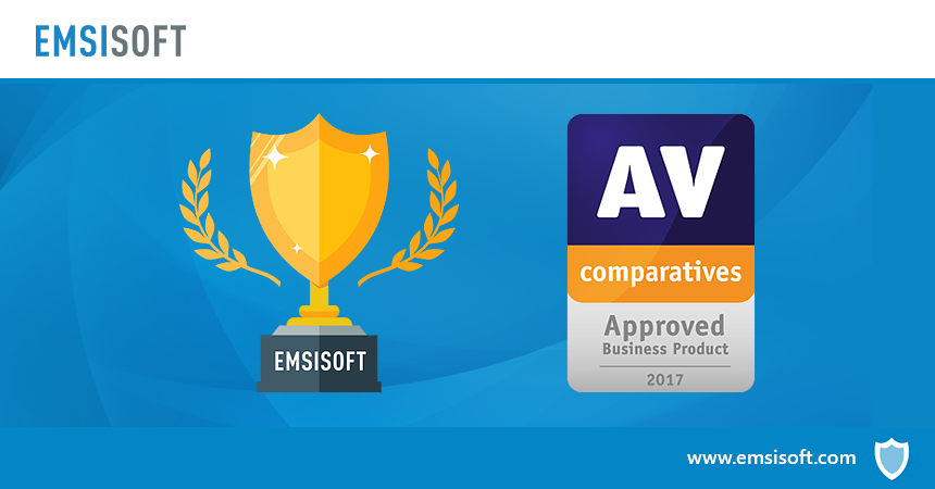 Emsisoft Enterprise Console receives AV-Comparatives' Approved Business Product Award 2017