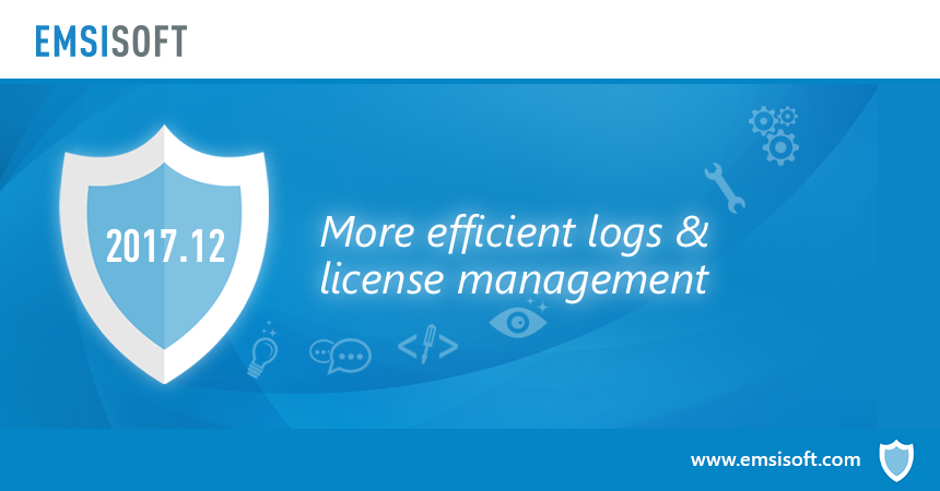New in 2017.12: More efficient logs and license management