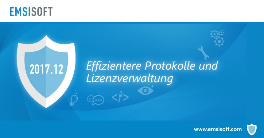 Neu in 2017.12: Effizientere Protokolle und Lizenzverwaltung
