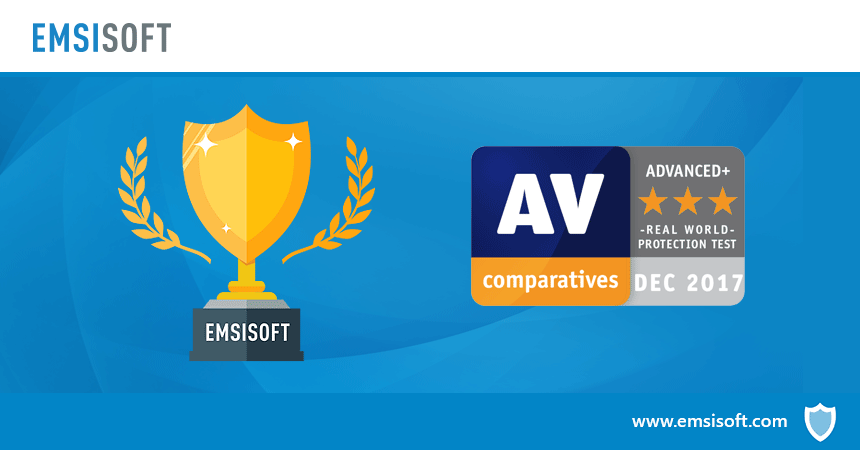 Emsisoft scores highest award in AV-Comparatives test