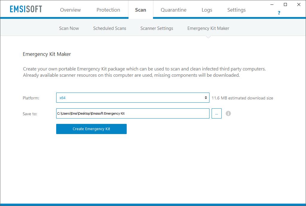 emsisoft emergency kit pro license key