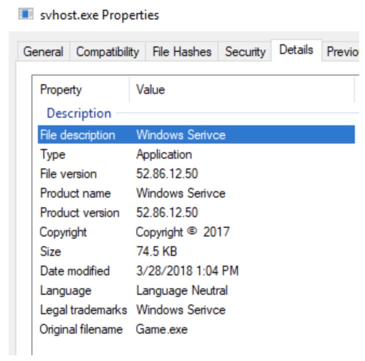 svhost-Metadaten