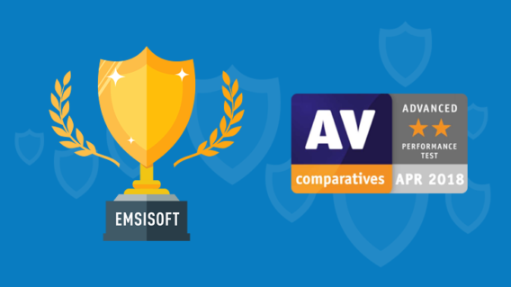 "Emsisoft scores ""Advanced"" rating in new AV-Comparatives Performance Test"