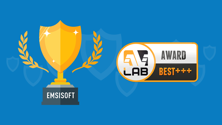Emsisoft Anti-Malware scores BEST+++ rating in latest AVLab tests