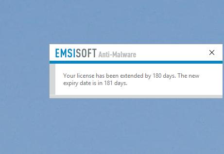 Emsisoft Referral Rewards Alert