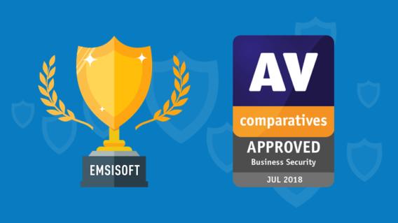 Emsisoft Receives AV-Comparatives Business Security Award